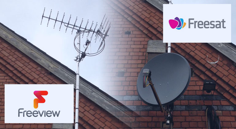 tv aerial satellite dish freeview and freesat