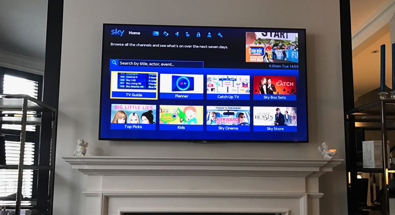 tv wall mounting image